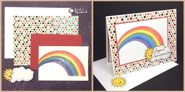 Cartes arc-en-ciel pour un joyeux anniversaire!