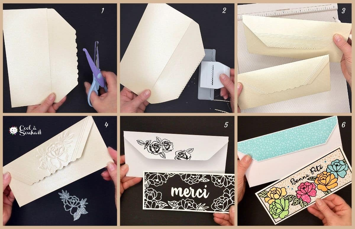 Idées pour décorer le rabat des enveloppes.