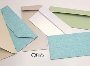 Enveloppe DIY pour carte slimline.