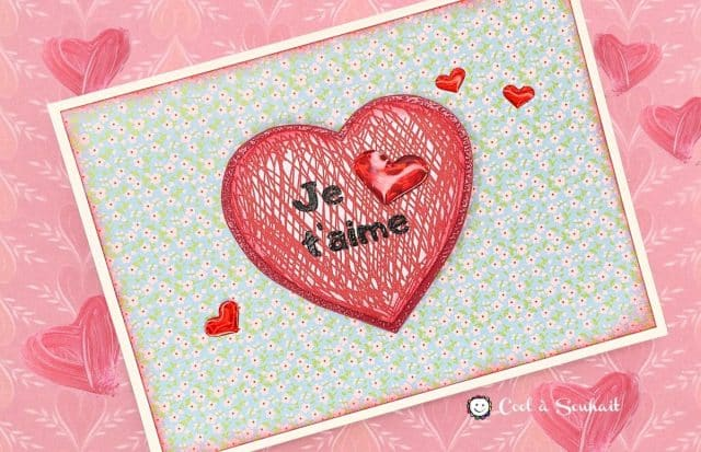 Carte St-Valentin coeur.
