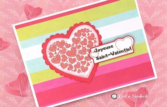 Carte St-Valentin diy.